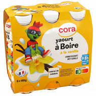 Cora Kido yaourt à boire saveur vanille 6x180g
