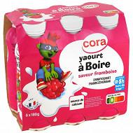 Cora Kido yaourt à boire saveur framboise 6x180g