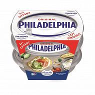 Phildelphia fromage a la crème à tartiner lot 3x150g 2+1 offert