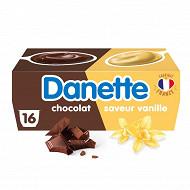 Danette saveur vanille chocolat 16x115g