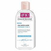 Diadermine eau micellaire express 3en1 2x400ml