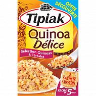 Tipiak quinoa délice offre découverte 240g