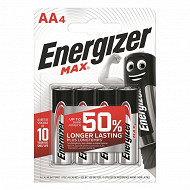 Energizer 4 piles MAX AA (lr06)