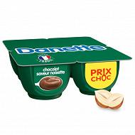 Danette saveur chocolat noisette 4x125g prix choc