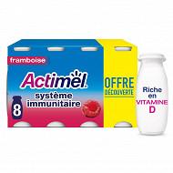 Actimel saveur framboise 8x100g offre découverte