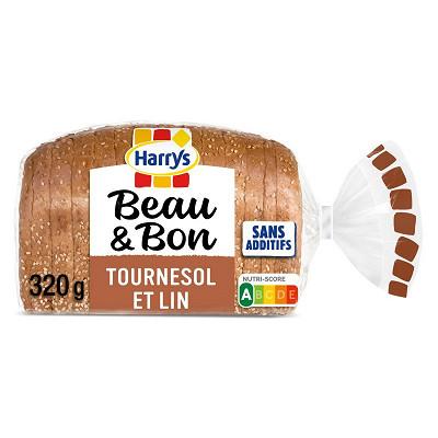 Harry's Harrys Beau & bon pain de mie complet lin tournesol 320g