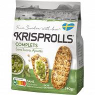 Krisprolls pains suedois complets sans sucres ajoutés 240g