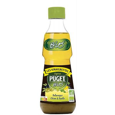Puget Puget vinaigrette biphasée bio balsamique citron & basilic 333ml