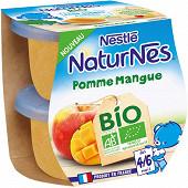 Nestlé naturnes bio pomme mangue 2x115g dès4/6 mois