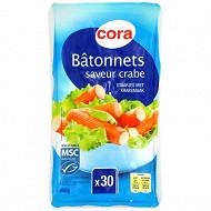 Cora bâtonnets de surimi saveur crabe 450g