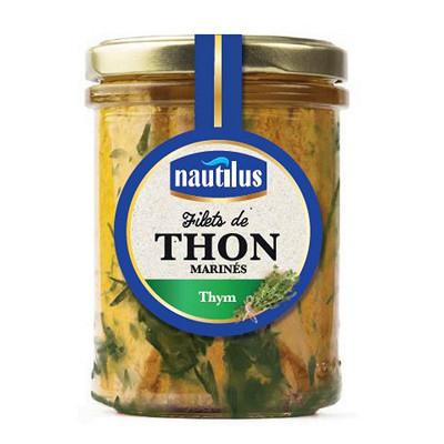 Nautilus Nautilus filets de thon au thym bocal 135 g