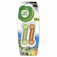 Air wick desodorisant voiture 4 sticks fruits/brise