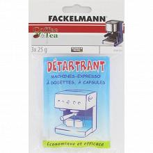 Fackelmann détartrant machine expresso en poudre, lot 3x25 g  - 01261