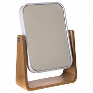 Miroir support bambou blanc