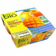 Nature bio purée pomme mangue bio sans sucre ajouté 4x100g