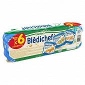 Blédichef riz et lieu à la forestière / mijoté de légumes dès 15 mois x6 1.460kg
