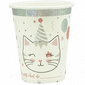 Gobelets en carton x10 meow party 25cl
