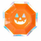 Assiettes en carton x8 octogonales pumpkin 18cm