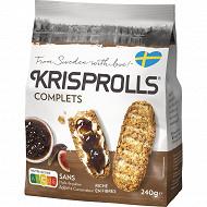 Krisprolls pains suedois complets 240g