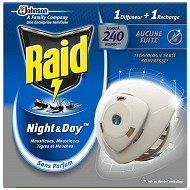 Raid diffuseur night & day mouches moustiques tigres
