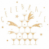 20 Serviettes 33X33 cm celebrate or