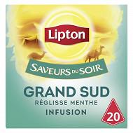 Lipton saveurs du soir infusion grand sud réglisse menthe x20 32g