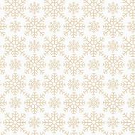 20 Serviettes 33X33 cm flocons precieux