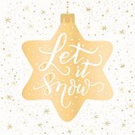 20 serviettes 33X33 cm snow star or