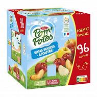 Pom'potes sans sucres ajoutés 8 pomme  & 4 pomme brugon 96x90g 8640g