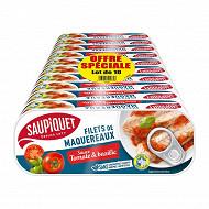 Saupiquet maquereaux tomate basilic 169g 1/4 x 10