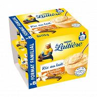 La Laitière riz au lait vanille 8x115g