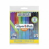 Papermate pochette inkjoy 100cap med 27 fun format spécial