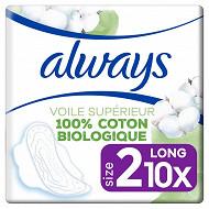 Always cotton comfort serviettes long plus x10