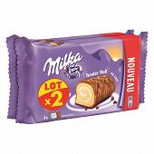 Milka lot de 2 tender roll au lait 296g