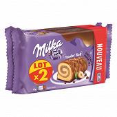 Milka lot de 2 tender roll noisettes 296g