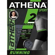 Lot de 2 boxers ligne Running Athena 2010/2015 LOSANGE/NOIR T7