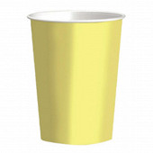 Gobelets x10 uni pastel yellow 250cc