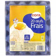 Cora 20 oeufs frais djp