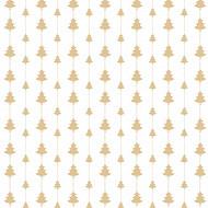 20 serviettes 33 decorees 3 plis guirlande de sapins or fond blanc