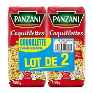 Panzani coquillettes 500gx2
