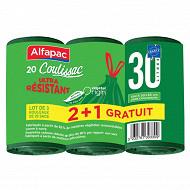 Coulissac ultra résistant alfapac 30l - lot de 2+1 gratuit