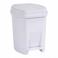 Poubelle salle de bain 6l blanc