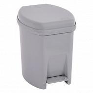 Poubelle salle de bain 6l gris