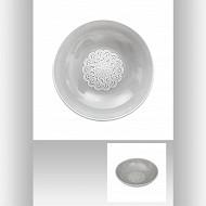 Coupelle 20.5 cm hacienda gris