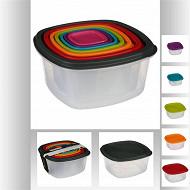 Lot de 7 boîtes de conservation couleur