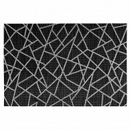 Set de table craquelé 45 x 30 cm - coloris noir