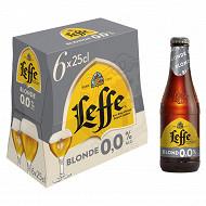 Leffe blonde 6x25cl 0.0%vol