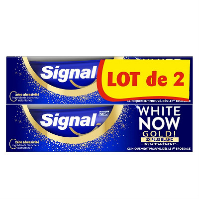 Signal Signal white now dentifrice blancheur Gold 2x75ml