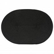 Set de table tressé ovale - coloris noir