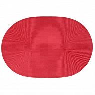 Set de table tressé ovale - coloris rouge
